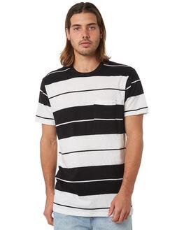 BLACK MENS CLOTHING RVCA TEES - R381047BLK