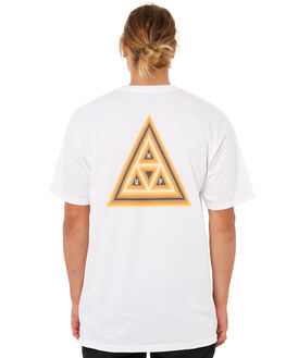 WHITE MENS CLOTHING HUF TEES - TS00184WHT