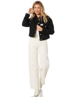 BARE BLACK WOMENS CLOTHING LEE JACKETS - L-656856-NV7BBLK