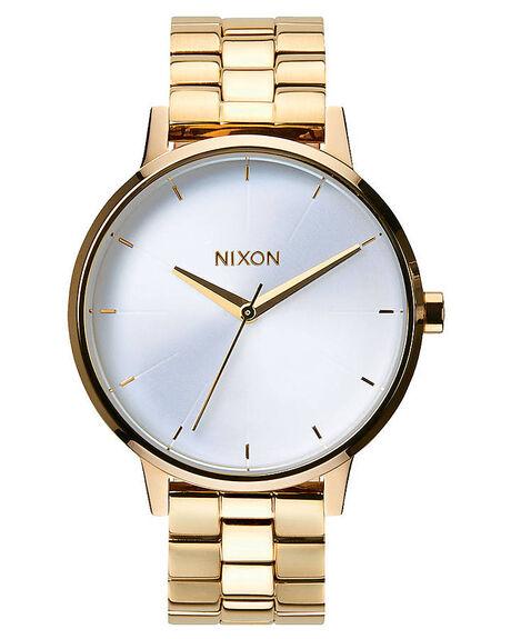 nixon the kensington watch gold white surfstitch. Black Bedroom Furniture Sets. Home Design Ideas