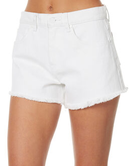WHITE WOMENS CLOTHING AFENDS SHORTS - 52-01-074WHT
