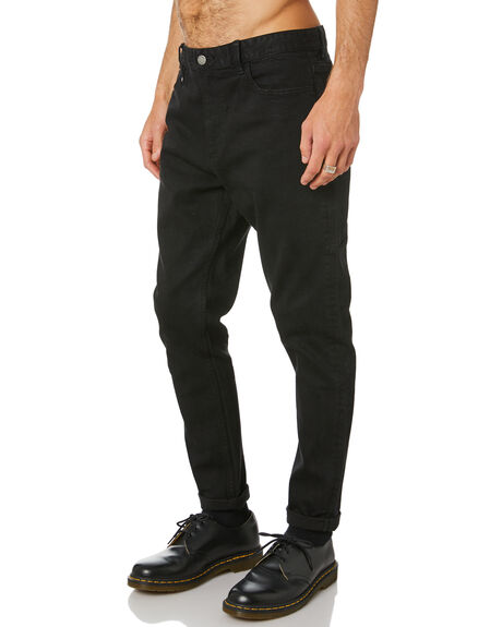 BLACK RINSE MENS CLOTHING THRILLS JEANS - TDP-418BRBLKRN