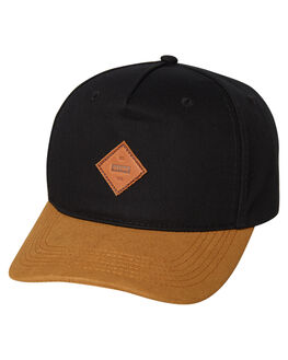 BLACK TAN MENS ACCESSORIES GLOBE HEADWEAR - GB71729003BLKTA