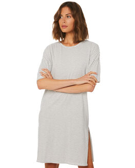 NAVY WHITE STRIPE WOMENS CLOTHING SWELL DRESSES - S8184456NVYWH