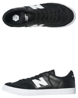 BLACK WHITE MENS FOOTWEAR NEW BALANCE SKATE SHOES - NM212BWB