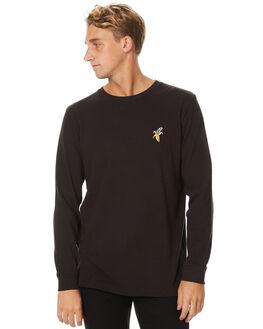 BLACK MENS CLOTHING RVCA TEES - R171093BLK