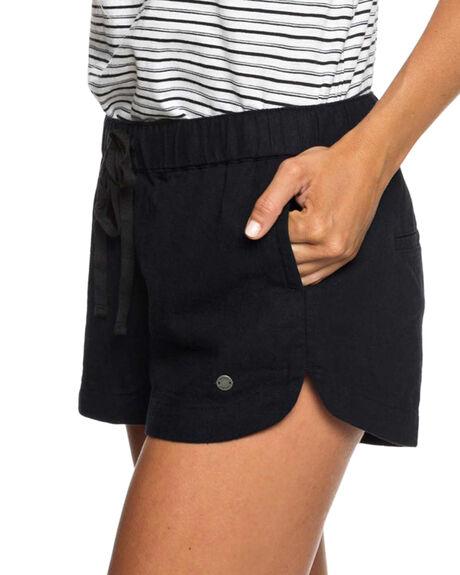 TRUE BLACK WOMENS CLOTHING ROXY SHORTS - ERJNS03185KVJ0