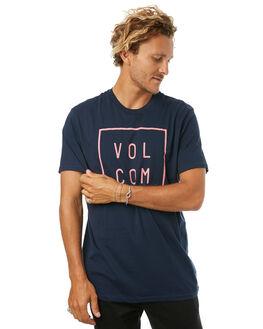 NAVY MENS CLOTHING VOLCOM TEES - A5031779NVY
