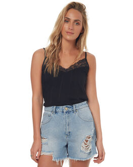 BLACK WOMENS CLOTHING ELEMENT FASHION TOPS - 274185BLK