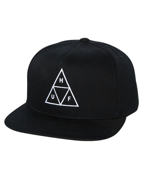 BLACK MENS ACCESSORIES HUF HEADWEAR - HT00344-BLACK