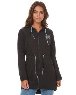 BLACK WOMENS CLOTHING SANTA CRUZ JACKETS - SC-WJA7240BLK