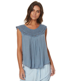 DUSTY BLUE WOMENS CLOTHING RIP CURL FASHION TOPS - GSHCY1DUST