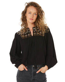 BLACK TAN WOMENS CLOTHING SAINT HELENA FASHION TOPS - SHS192131CBLKTN