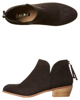 BLACK SUEDE WOMENS FOOTWEAR BILLINI BOOTS - B8041