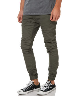OLIVE MENS CLOTHING ZANEROBE PANTS - 701-SOLIOLI