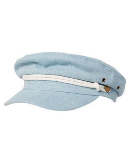 THRIFTED BLUE WOMENS ACCESSORIES RUSTY HEADWEAR - HHL0510THB
