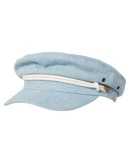 THRIFTED BLUE WOMENS ACCESSORIES RUSTY HEADWEAR - HHL0510THB