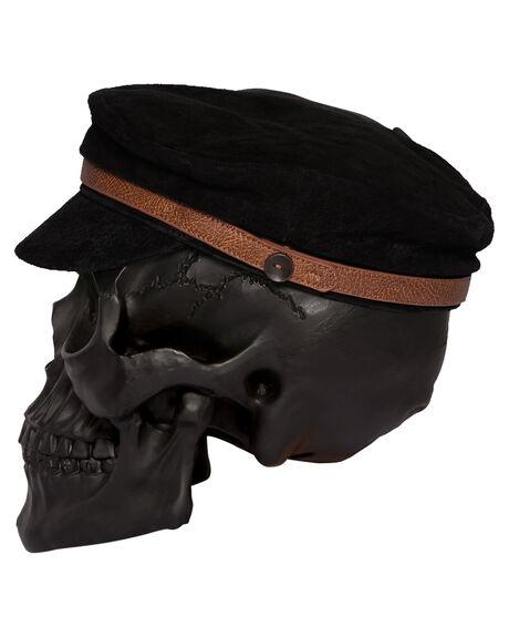 BLACK MENS ACCESSORIES BILLY BONES CLUB HEADWEAR - BBCHAT003BLK
