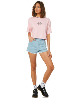 SUNBLEACHED BLUE WOMENS CLOTHING AFENDS SHORTS - W184302SBLU