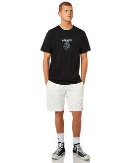 BLACK MENS CLOTHING AFENDS TEES - M184003BLK