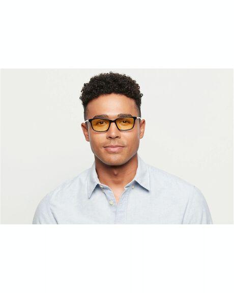 GLOSS BLACK MENS ACCESSORIES BAXTER BLUE SUNGLASSES - WELLS-GLS-BLK-SLP