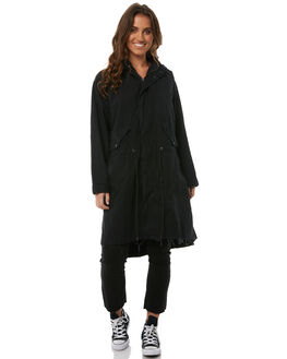 BLACK WOMENS CLOTHING THE PEOPLE VS JACKETS - AW18W048BLK