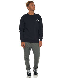 BLACK MENS CLOTHING RUSTY JUMPERS - FTM0810BLK