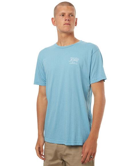 OASIS BLUE MENS CLOTHING KATIN TEES - TSSER16OBLU