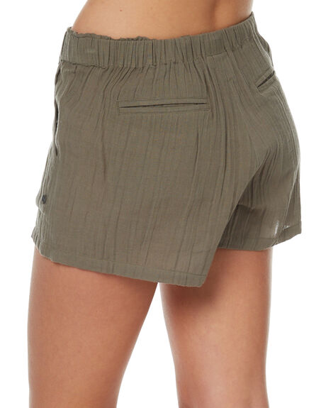 OLIVE WOMENS CLOTHING RIP CURL SHORTS - GWAEG10058