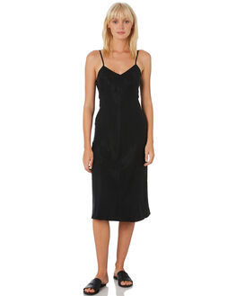WASHED BLACK WOMENS CLOTHING THRILLS DRESSES - WTH9-908BBLACK