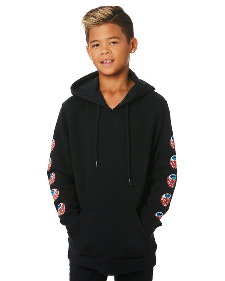 BLACK KIDS BOYS SANTA CRUZ JUMPERS + JACKETS - SC-YFC9239BLK