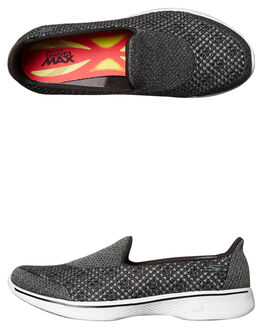 BLACK WHITE WOMENS FOOTWEAR SKECHERS SNEAKERS - 14145BKW