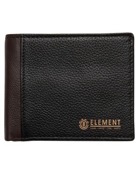 BLACK MENS ACCESSORIES ELEMENT WALLETS - 153572BBLK