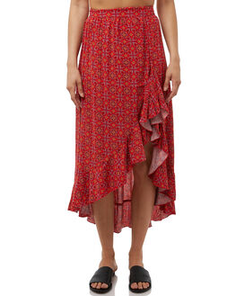 FOLKLORE PRINT WOMENS CLOTHING ALL ABOUT EVE SKIRTS - 6405097PRNT