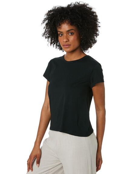 BLACK WOMENS CLOTHING SWELL TEES - S8212001BLACK