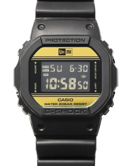 BLACK GOLD MENS ACCESSORIES G SHOCK WATCHES - DW-5600NE-1DRBLKGD