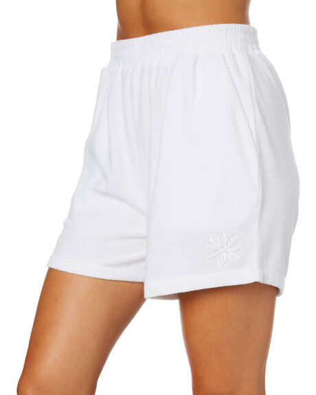 WASHED WHITE OUTLET WOMENS MISFIT SHORTS - MT102606WHT