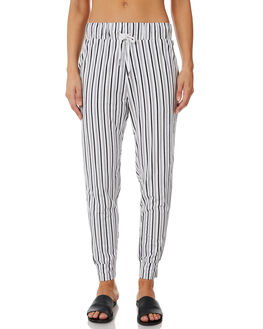 BLACK WHITE STRIPE OUTLET WOMENS SWELL PANTS - S8182194BKWST