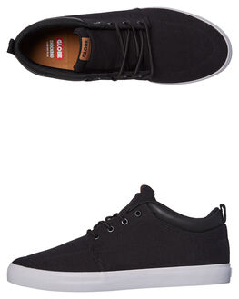 BLACK HEMP MENS FOOTWEAR GLOBE SKATE SHOES - GBGSCHUKKA-10515