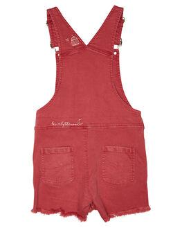 WASHED RED KIDS GIRLS MUNSTER KIDS DRESSES + PLAYSUITS - MM191JS04WSHRD