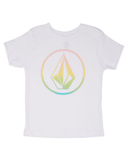 WHITE KIDS TODDLER GIRLS VOLCOM TEES - B35218L1WHT