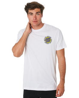 WHITE MENS CLOTHING SANTA CRUZ TEES - SC-MTC9340WHT