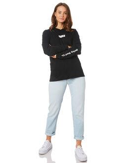 BLACK WOMENS CLOTHING HURLEY TEES - CI2894-010