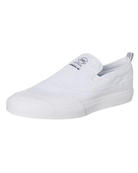 WHITE MENS FOOTWEAR ADIDAS SLIP ONS - F37386WHT