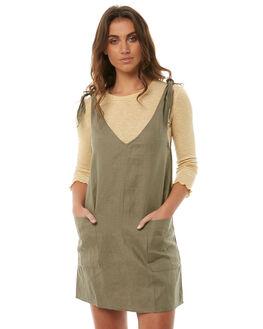 KHAKI WOMENS CLOTHING LILYA DRESSES - LND112-PRLAW18KHK
