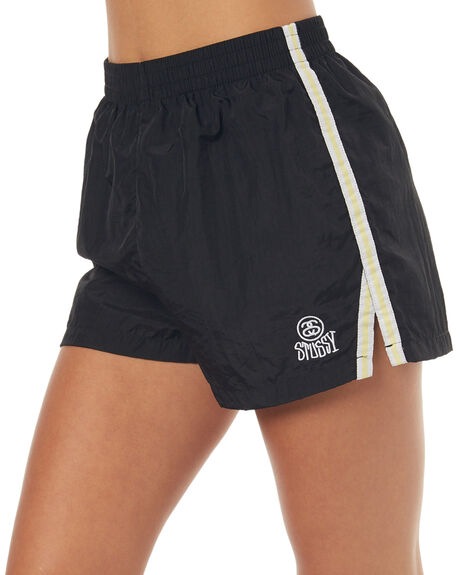 BLACK WOMENS CLOTHING STUSSY SHORTS - ST173612BLK
