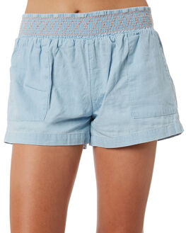LIGHT BLUE KIDS GIRLS RIP CURL SHORTS + SKIRTS - JWAAU11080