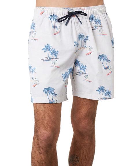 WHITE MENS CLOTHING ACADEMY BRAND BOARDSHORTS - 20S701WHI