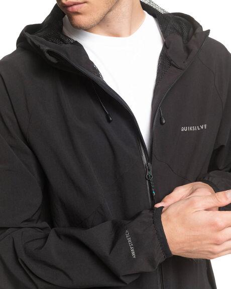BLACK MENS CLOTHING QUIKSILVER JACKETS - EQYJK03560-KVJ0