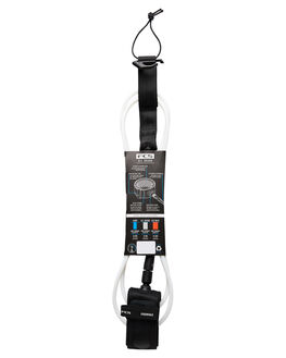 WHITE BLACK BOARDSPORTS SURF FCS LEASHES - EARA-WHB-06FWHIBK